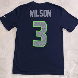 NIKE Russell Wilson Super Bowl XLIX T-Shirt Medium